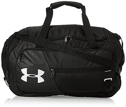 Under Armour Undeniable Duffel 4.0 MD, ruime sporttas, waterafstotende schoudertas unisex, zwart/zilver, eenheidsmaat