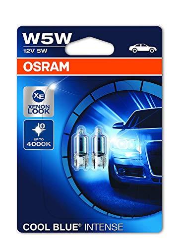 OSRAM 2825HCBI-02B Cool Blue Intense, W5W, blauwachtig wit licht, halogeen signaallamp, dubbele blister (2 lampen), blauw