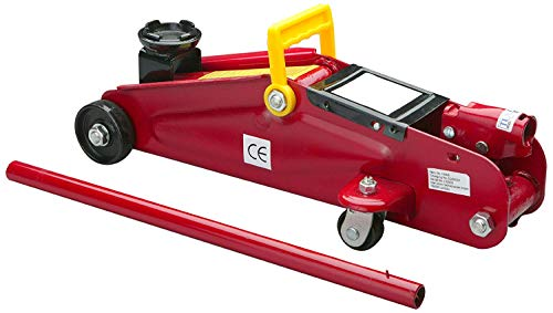Unitec 10008 Hydraulische Garagekrik, Draagkracht tot 2 T, Rood/Geel