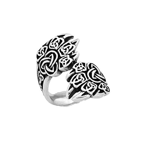 Titanium stalen ring voor heren Vintage ring Hibiscusring Plantring Piraatring 925 zilveren ringring Religieuze ring Trouwring Gift Geluksring