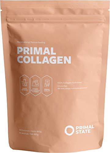 Primal State® Collageenpoeder [460 g] - van gecertificeerd weidebehouden- collageen hydrolysaat Peptide type 1, 2 en 3 - zonder additieven