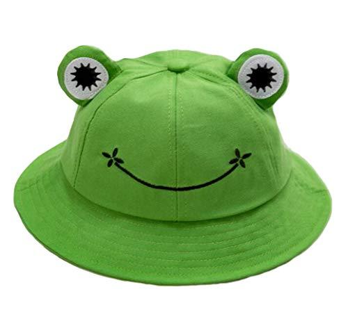 Frog Bucket Hat Kikker Pet Dames Vissershoed Zonnehoed Vrouwelijke Bob Zonnehoed Strand Hoed