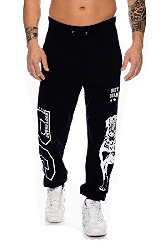 Raff & Taff joggingbroek sweatpants sportbroek Bulldog bodyguard van hoogwaardige katoenmix, zwart, M