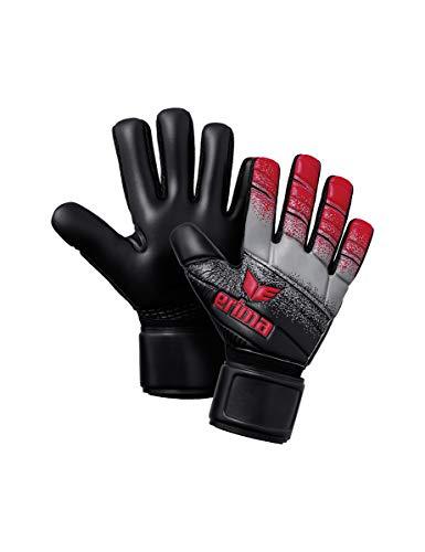 ERIMA Volwassenen keepershandschoenen SKINATOR hardground NF, rood/zwart/grijs, 6, 5, 7221906