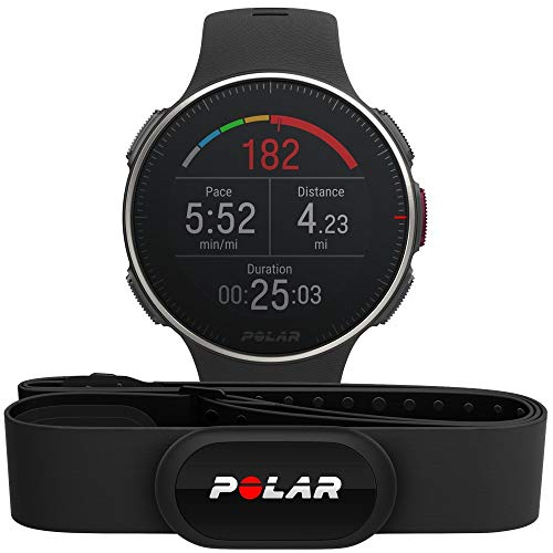 POLAR Unisex's Vantage V Titan HR Multisport horloge, zwart/rood, one size