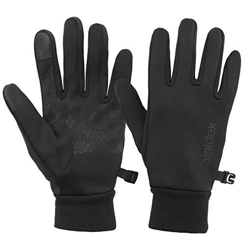 ALPIDEX Slipvaste Winterhandschoenen Touch Warm Winddicht Fiets Handschoenen Dames Heren, Grootte:M