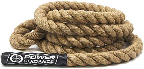POWER GUIDANCE Outdoor klimtouw, 1,5 inch (3,8 cm) in diameter - Rotsklimtouw, ijsklimmen Veiligheid Abseiltouw - Lengte 7,5 meter