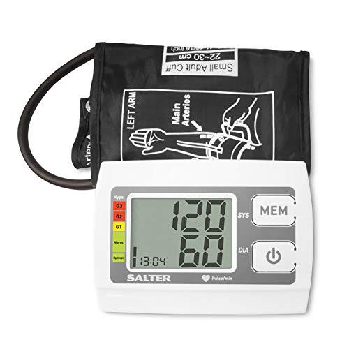 SALTER Automatische bloeddrukmeter, controle voor thuis, hartslagdetector, herkent hartritmestoornissen, gebaseerd op specificaties van de wereldgezondheidsorganisatie, 60 meetgeheugen, 32-42 cm