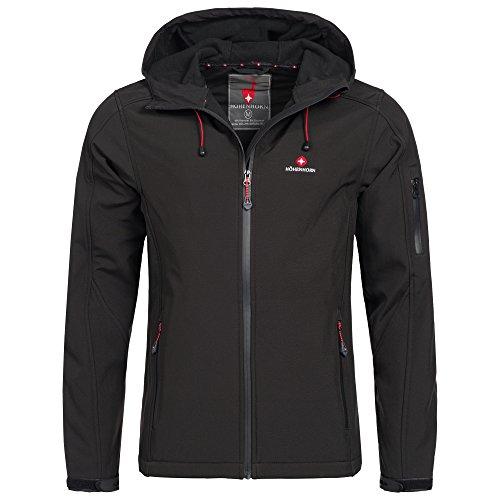 Höhenhorn Altus Softshelljas voor heren, outdoor, functionele jas, vrijetijdsjas, zwart, M