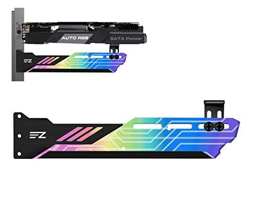 EZDIY-FAB Regenboog GPU-houder met automatische RGB-effecten, ondersteuning voor grafische kaarthouder, grafische kaarthouder, grafische kaartenhouder