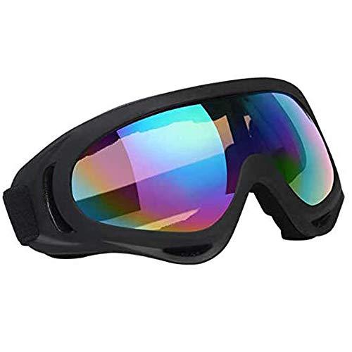 Vicloon Skibril, skibril, snowboardbril, uv-bescherming, compatibel, anti-condens, skibril, sportbril voor skiën, motorfietsen, fietsen, skaten, uniseks