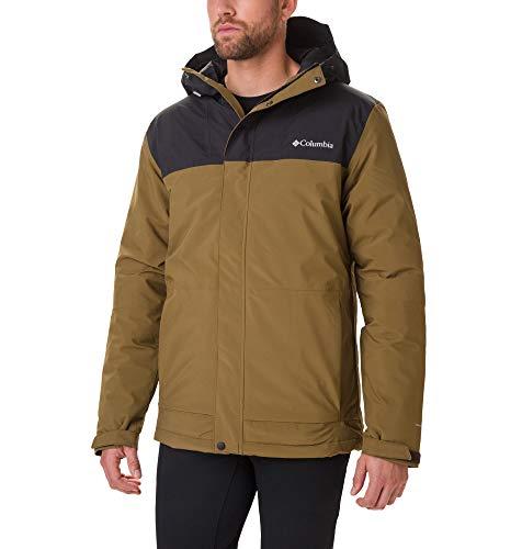 Columbia Heren Horizon Explorer geïsoleerde jas Horizon Explorer, Olive Brown, Zwart, XL (fabrieksmaat: XL)