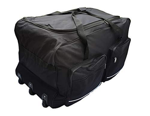 Zachte reistas, sportkoffer, groot, met wielen, maat L-100L, XL-115L, XXL-150L, XXXL-200L, zwart en blauw