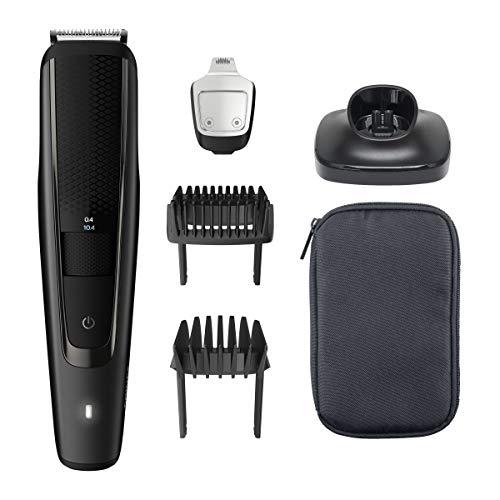 Philips Baardtrimmer Series 5000 - 40 Vergrendelbare lengtestanden (0.4 - 20 mm) - 90 Minuten scheren - Waterdicht - Precisietrimmer - Zelfslijpende mesjes - Batterij indicatie - Reisetui - BT5515/15