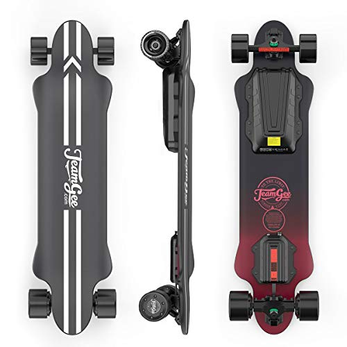 Teamgee H20 39 inch Elektrisch Skateboard met draadloze afstandsbediening Longboards Skateboards voor tieners en volwassenen, 26PMH Top Speed,1080W Hub Motors,30KM Bereik,4 Speed Aanpassing