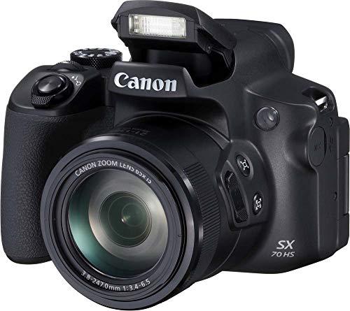 Canon PowerShot SX70 HS (20,3 MP, 65x optische zoom, draai- en zwenkbaar lcd-scherm van 7,5 cm, wifi, 4K-video)