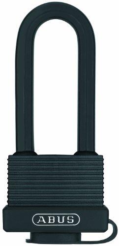 ABUS 32131 messing hangslot, messing beugel, 45 mm / beugelhoogte 63 mm, verschillend sluitend, zwart