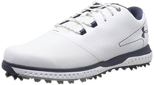 Under Armour Men's Fade RST 2 E Golf Shoes, White/Steel/Academy 100, 9.5 UK