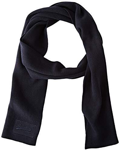 Superdry Oranje Label Sjaal voor heren, Bright Navy Grit, Eén maat