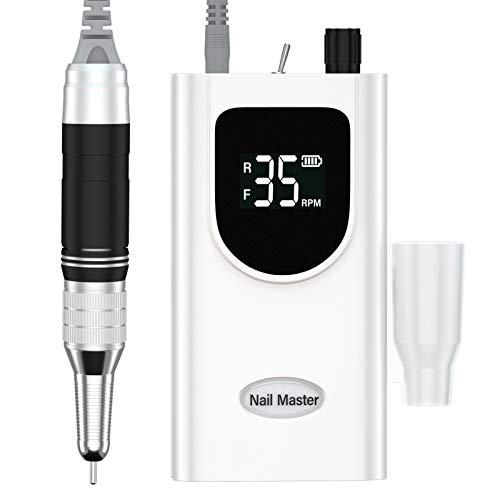 Delanie Professionele Nagelboor, Elektrische nagelboren set voor Manicure en Pedicure, Draagbaar en Oplaadbaar, 35.000 RPM, Regelbare Snelheid met LED-display