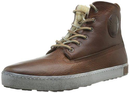Blackstone Gm06.oldy Hi-Top Sneakers voor heren, Bruin Braun Oud Geel, 39.5 EU