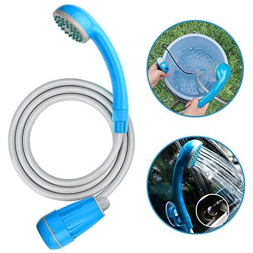 LIBERRWAY campingdouche accu camping douche outdoor met 3 jaar garantie 5.9ft doucheslang en 2200mAh oplaadbare accu waterpomp voor tuin reizen auto wassen - blauw