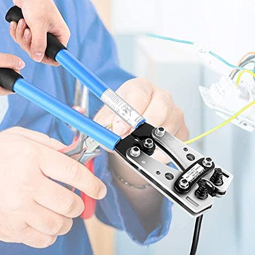 GOTOTOP Krimptang krimp, adereindhulzen krimptang professioneel 6-50 mm² stekker krimptang hex krimptang batterij kabel Lug blauw