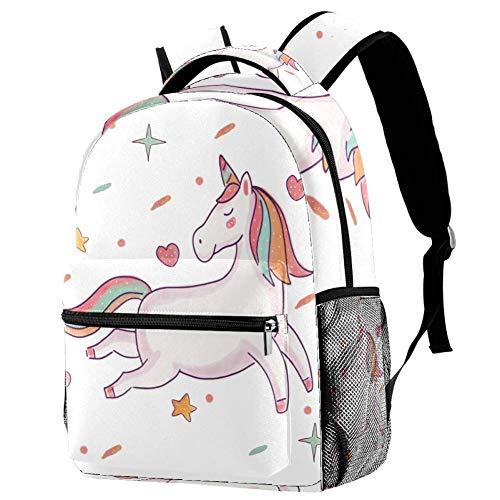 Rugzakken voor tiener meisjes eenhoorn schattig rugzak schooltas Reizen Daypack 29.4x20x40cm