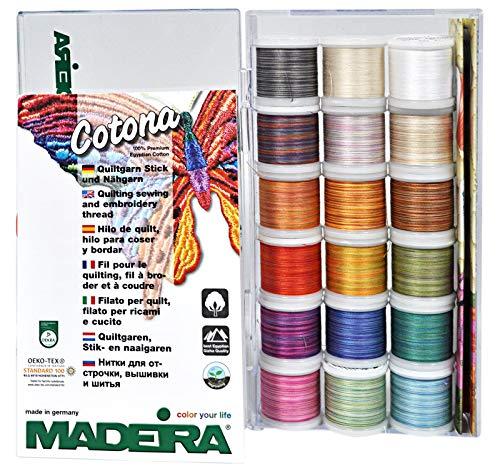Madeira 8035 transparante box: Cotona No.50: 18 x 200m: spoelen, één maat