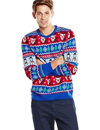 British Christmas Jumpers Heren Comic Xmas Mens Christmas Jumper Pullover