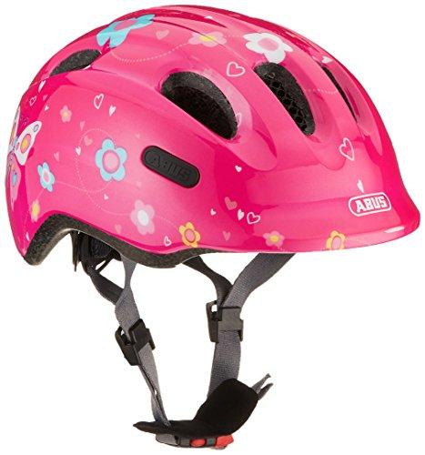 ABUS Smiley 2.0 kinderhelm - robuuste fietshelm voor meisjes en jongens - 72566 - roze met vlinderpatroon, maat S
