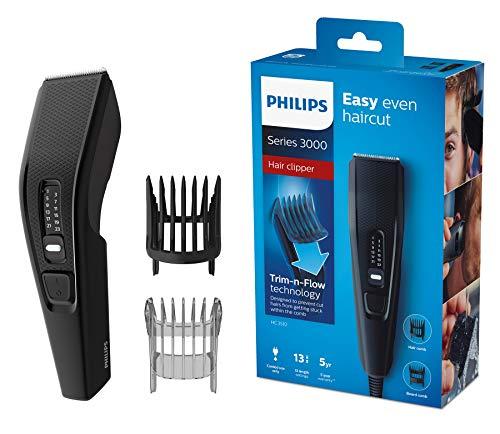 Philips HC3510/15 Haarschneider Series 3000 mit Edelstahlklingen (13 Längeneinstellungen)