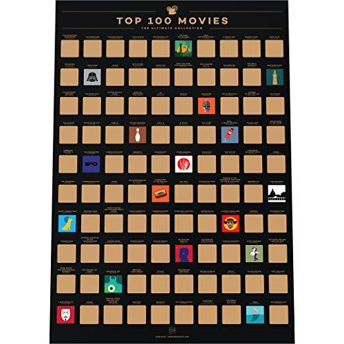 Enno Vatti 100 Films Krasposter - Beste Films Aller Tijden Bucketlist (42 x 59,4 cm)