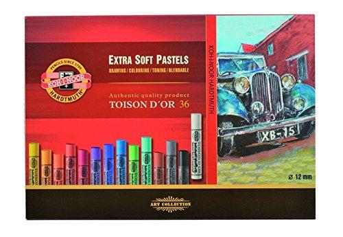KOH-I-NOOR TOISON D'OR 8552 extra zachte kunstenaars-pastelkrijt (36 stuks)