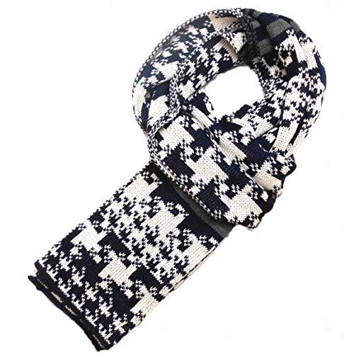 Heren Sjaal Winter Klassieke Houndstooth Moderne Gebreide Casual Sjaal Warm Zachte Stole Mode Dagelijkse Sjaal