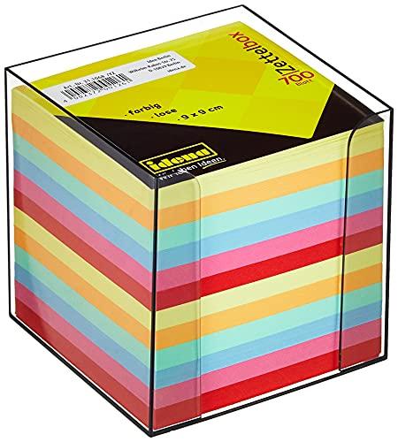 Idena 311068 - notitiedoos, 9 x 9 x 10 cm, 80 g/m², 700 vellen, gekleurd, 1 stuk