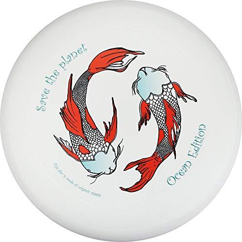 Eurodisc Ultieme Frisbee Disc, 175 g, 4.0 stuks, wedstrijdschijf, bio-kunststof, stabiele traject, meer dan 100 meter, design motief, foto, Save The Planet Kois, Ocean Ocean Ocean Edition