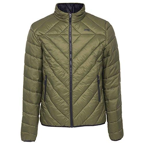 Jeep Man Eco-Down Jacket J5W jas, donkergroen/donkergrijs, S