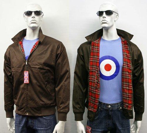 Klassieke jas voor volwassenen, Harrington, modieus, retro, scooter, zomerjas, 8 kleuren, XS-5XL - beige - Small