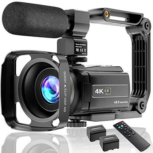 4K Videocamera Camcorder UHD 48MP WiFi IR Nachtzicht 3.0