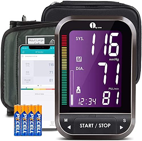 1byone bloeddrukmeter, bluetooth, bloeddrukmeter, bovenarm, bluetooth, draadloos, digitaal, bloeddrukmeter met app, bloeddrukmeter, grote manchet, export gegevens als excel
