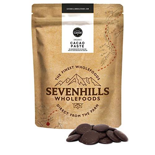 Sevenhills Wholefoods Bio Cacao /Cacaopasta, Wafels, Liikeur, Massa) 500g