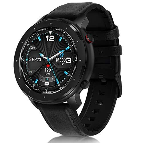 Fullmosa smartwatch voor mannen en vrouwen, 1,3 inch touchscreen fitness tracker voor Android IOS, fitnesshorloge met hartslagmeters, IP68 waterdicht sporthorloge met stappenteller
