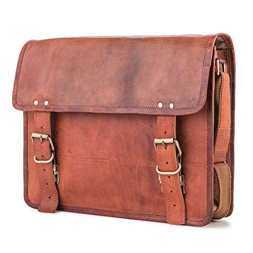 Berliner Bags Leren Leder Messenger Bag York M Schoudertas Aktetas Boekentas Handtas Heren Dames Vintage Bruin