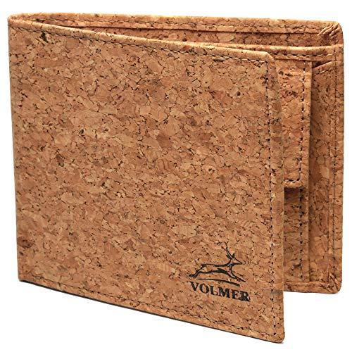 Fa.Volmer® Slanke portemonnee voor heren | Slim Wallet | Portemonnee dames | bijzonder comfortabel eenvoudig en extra stabiel | FRID-bescherming