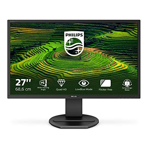 Philips 272B8QJEB/00 Monitor, 68,58 cm, (27 inch), (VGA, DVI, HDMI, DisplayPort, PLS Panel, USB-hub, 2560x1440, Pivot, zwart