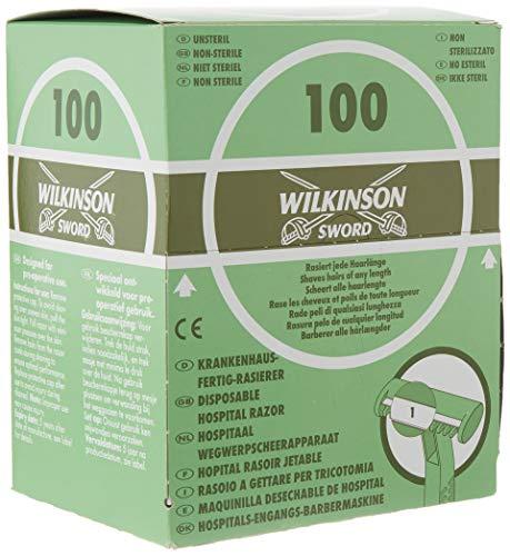 Wilkinson wegwerp scheerapparaat ziekenhuis met intrekbare functie, dispenserdoos, groen