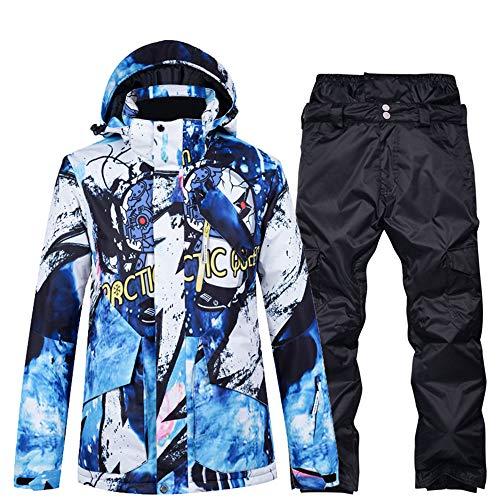 Skikleding heren pak enkele en dubbele plank waterdicht groot formaat winter verdikking outdoor reizen,Top + pants 1s