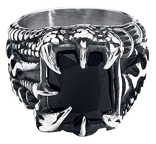 etNox hard and heavy Crystal Claw Ring zilverkleurig XL