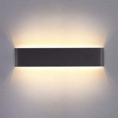 Yafido Wandlamp Indoor LED warm wit 40CM up down Wandverlichting Wandspot 14W 3000K voor slaapkamer woonkamer hal trap 230V